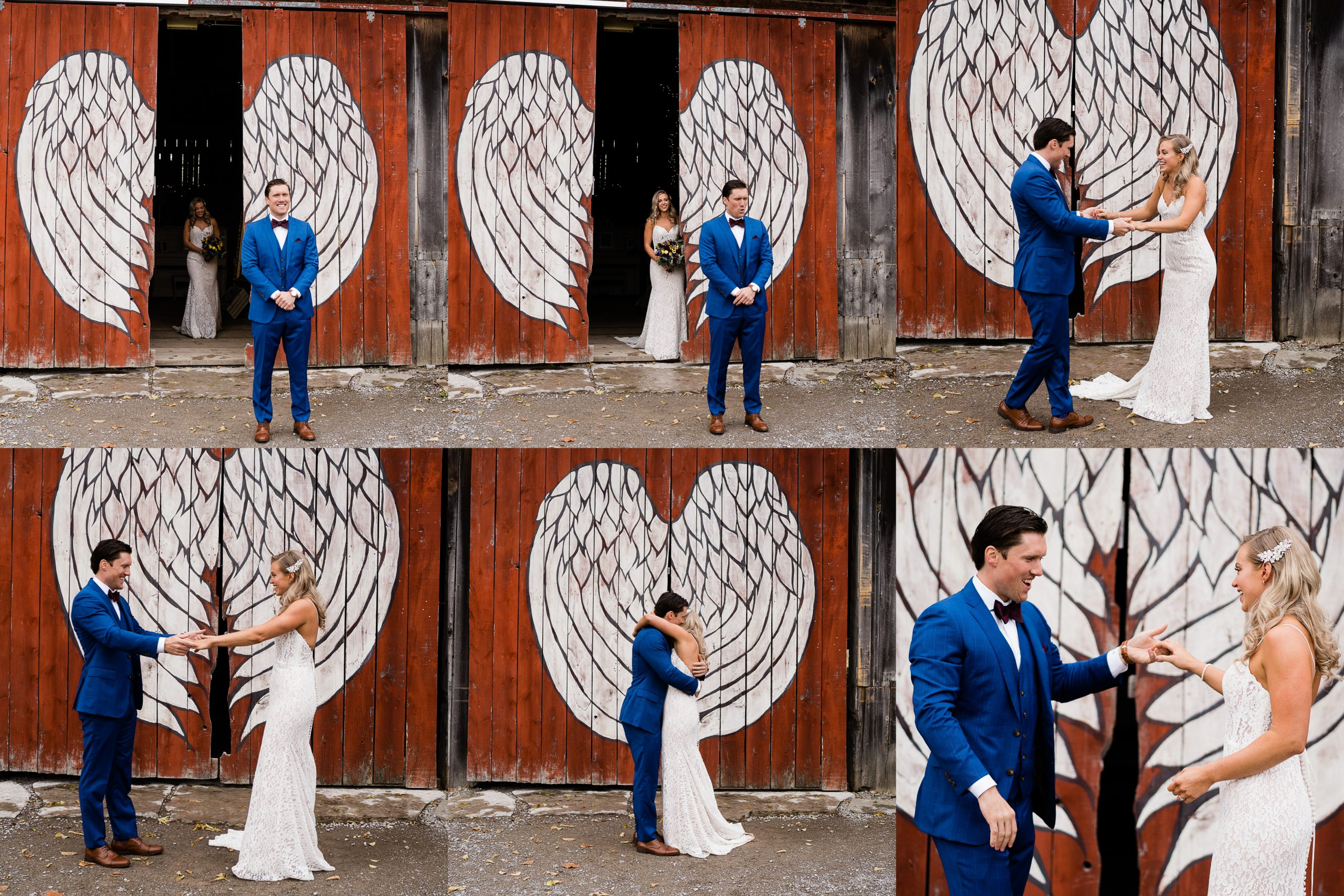 first look at Century Barn weddings