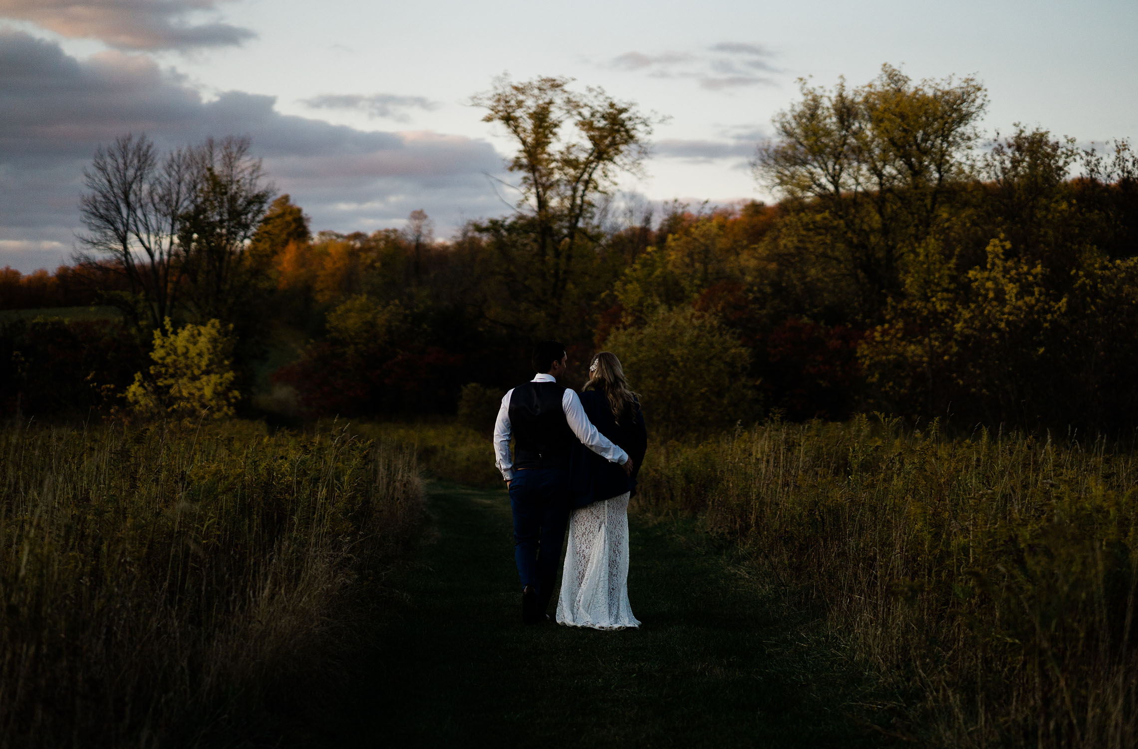 bride and groom at Century Barn weddings