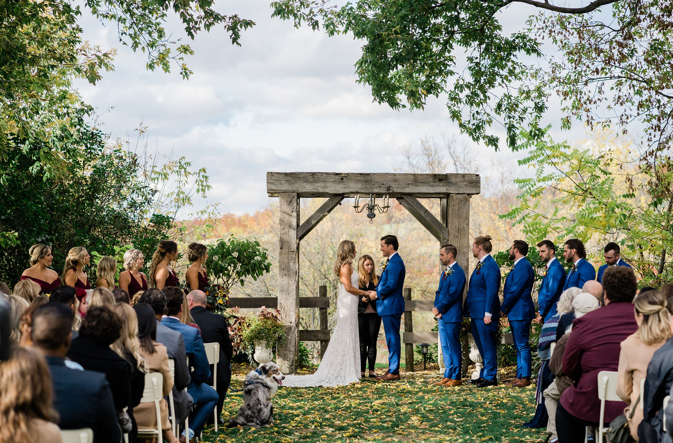 wedding at Century Barn weddings