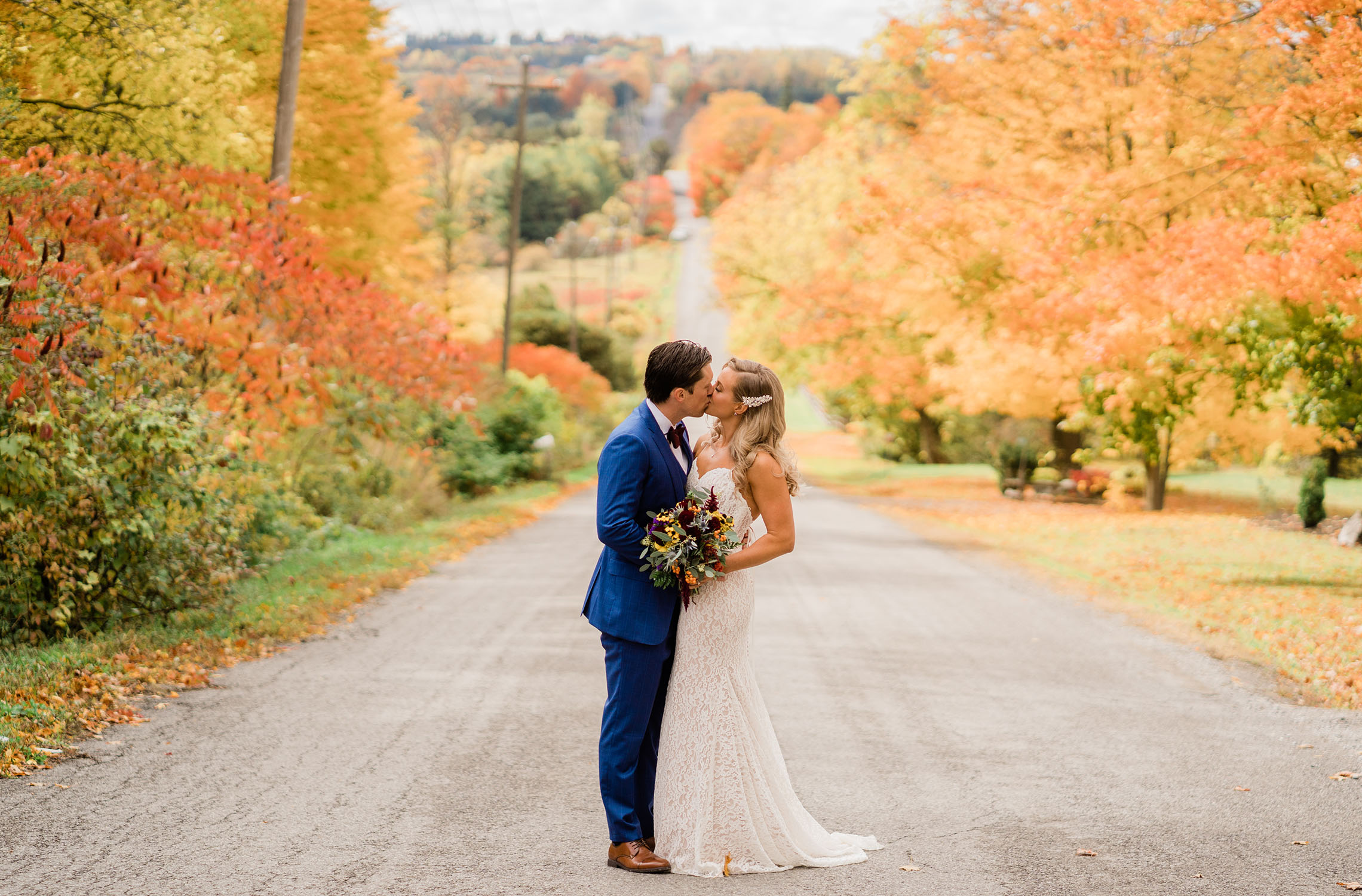 fall wedding at Century Barn